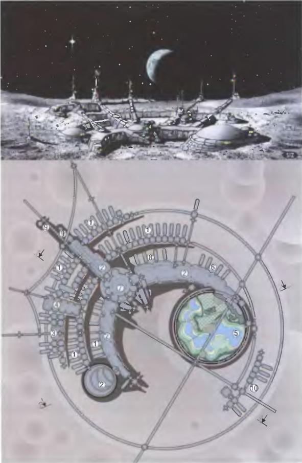 121814 1948 6 Лунная база и поселения второго и последующих этапов освоения Луны. Часть II