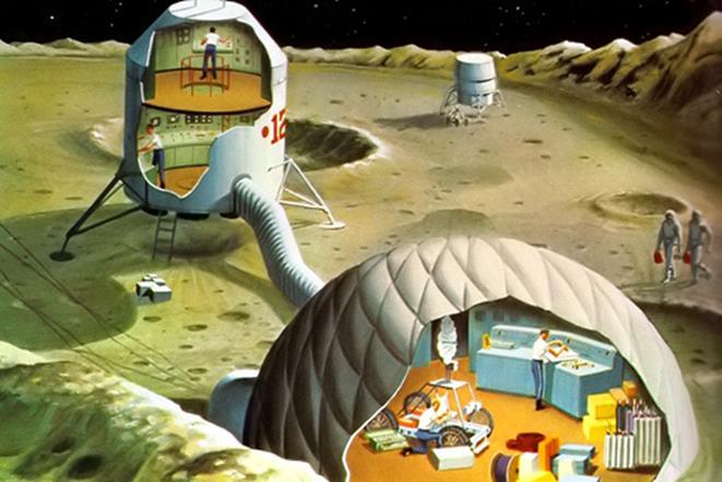 011915 1255 3 Схема транспортировки экипажей и грузов на втором этапе развития лунной транспортной космической системы. Часть I